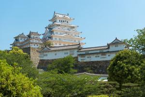 Himeji castle in may